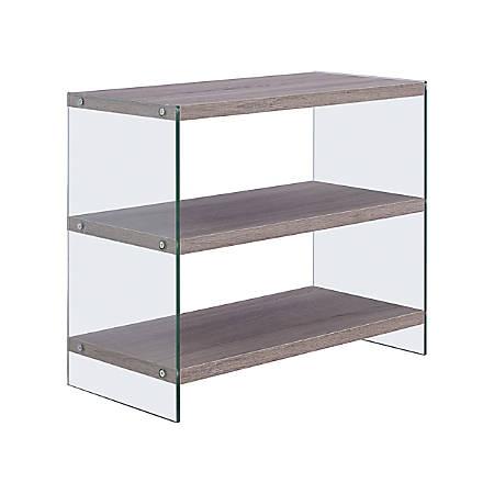 "Southern Enterprises Stilson Bookcase, 21""H, 3-Shelf, Grayed Oak"