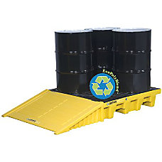 4 DRM PALLET SQ BLK WPLUG