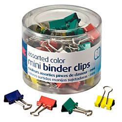 OIC Binder Clips Tub Mini Clips