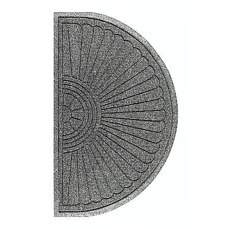 "The Andersen Company Waterhog Eco Grand Premier Half-Oval Floor Mat, 36"" x 21 5/8"", Gray Ash"