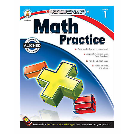 Carson-Dellosa Kelley Wingate Math Practice Workbook, Grade 1