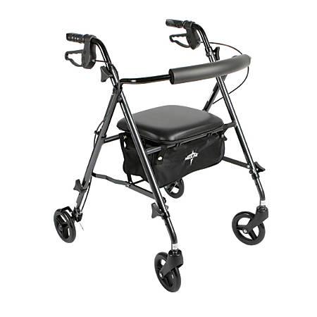 """Guardian Ultralight Rollator, 6"""" Wheels, Black"""