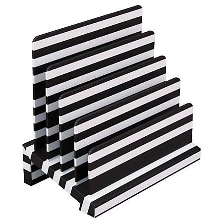 See Jane Work® Desktop Sorter, Black Stripe