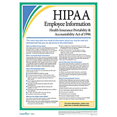 ComplyRight HIPAA Employee Poster