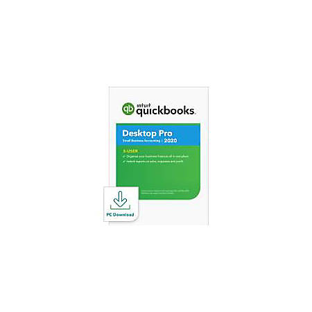 Intuit® QuickBooks® Desktop Pro 2020, 3 User, 1 Year Subscription, Windows, Download