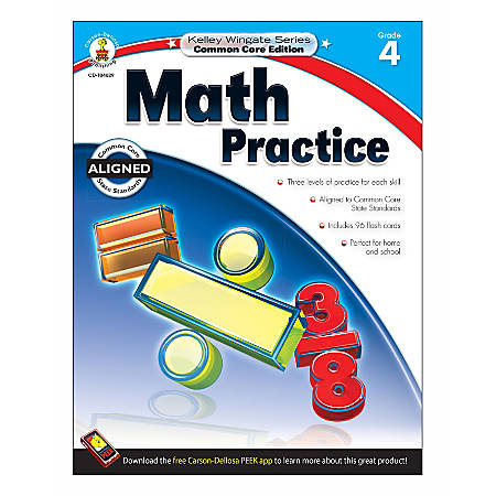Carson-Dellosa Kelley Wingate Math Practice Workbook, Grade 4