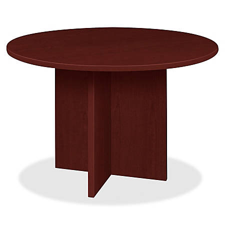 "Lorell® Prominence 2.0 Round Conference Table, 42""W, Mahogany"