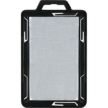 Advantus RFID Blocking Badge Holder - Vertical - Plastic - 20 / Pack - Black/Clear