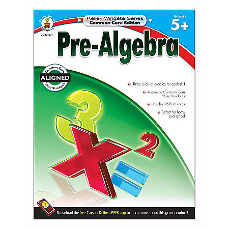 Carson-Dellosa Kelley Wingate Resource Book For Teachers Of Pre-Algebra, Grades 5+
