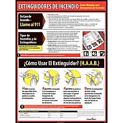 ComplyRight Fire Extinguisher Spanish Poster