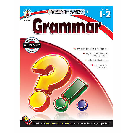Carson-Dellosa Kelley Wingate Series Grammar Workbook, Grades 1–2