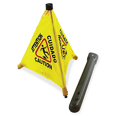 """Impact Products 31"""" Pop Up Safety Cone - 24 / Carton - 31"""" Height - Cone Shape - Plastic - Yellow, Black"""