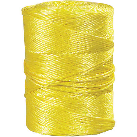 """Office Depot® Brand Twisted Polypropylene Rope, 1,150 Lb, 1/4"""" x 600', Yellow"""