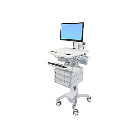 Ergotron StyleView Cart with LCD Pivot, 9 Drawers