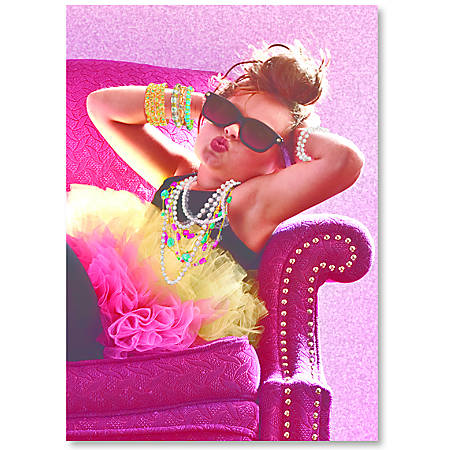 "Viabella Fun Birthday Greeting Card With Envelope, Big Girl, 5"" x 7"""