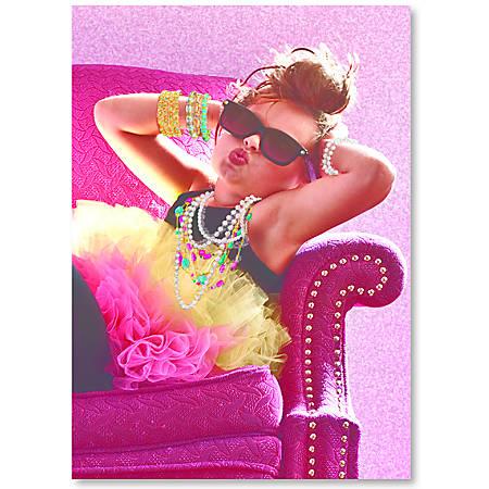 "Viabella Fun Birthday Greeting Card With Envelope, Big Girl, 5"" x 7"""