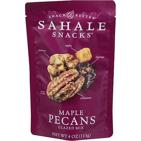 Sahale Snacks® Premium Blend, Maple Pecans With Walnuts And Cherries, 4 Oz Bag