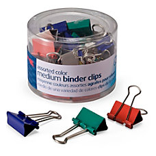 OIC Binder Clips Tub Medium Clips
