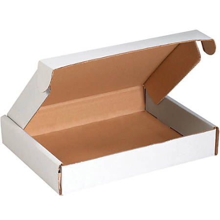 """Office Depot® Brand Deluxe Literature Mailers, 12"""" x 8"""" x 2 3/4"""", White, Pack Of 50"""