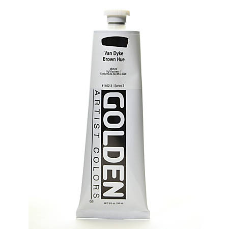 Golden Heavy Body Acrylic Paint, 5 Oz, Historical Van Dyke Brown Hue