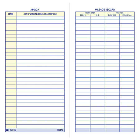 adams vehicle mileage book 3 14 x 6 14 by office depot officemax