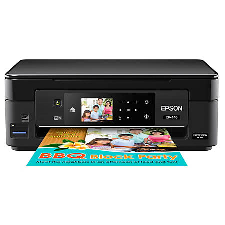 Epson® Expression® Home XP-440 Wireless Color Inkjet All-In-One Printer, Scanner, Copier, C11CF27201