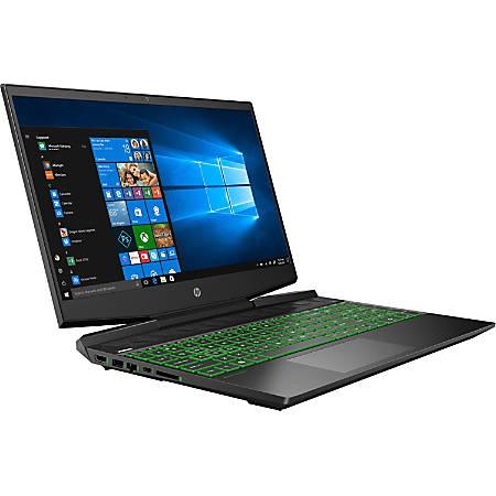"HP Pavilion Gaming 15-dk0030nr - Core i7 9750H / 2.6 GHz - Windows 10 Home - 8 GB RAM - 256 GB SSD NVMe - 15.6"" IPS 1920 x 1080 (Full HD) - GF GTX 1660 Ti / UHD Graphics 630 - Wi-Fi, Bluetooth - shadow black (cover and base), chrome green (logo) - kbd: US"
