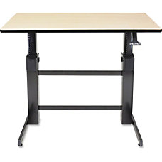 Ergotron WorkFit D Birch Surface Sit