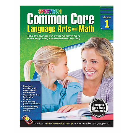 Spectrum Common Core Language Arts And Math, Grade 1
