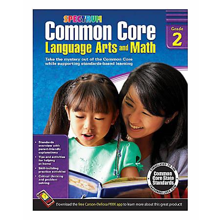 Spectrum Common Core Language Arts And Math, Grade 2