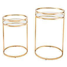 Zuo Modern Nesting Tables Round MirrorGold