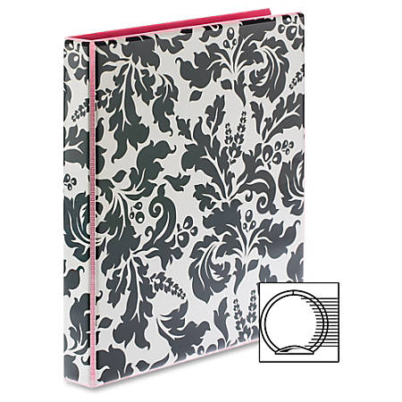"""Avery Fashion Durable View with Round Rings - 1"""" Binder Capacity - 175 Sheet Capacity - Round Ring Fastener(s) - 2 Internal Pocket(s) - 1 Each"""