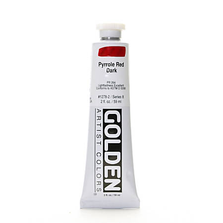 Golden Heavy Body Acrylic Paint, 2 Oz, Pyrrole Red Dark