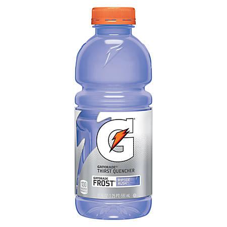 Gatorade® Wide-Mouth Bottles, Riptide Rush, 20 Oz, Case of 24