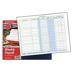 Adams Weekly Payroll Book 8 12