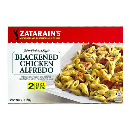 Zatarain's New Orleans Style Blackened Chicken Alfredo, 32 Oz, Pack Of 2 Trays