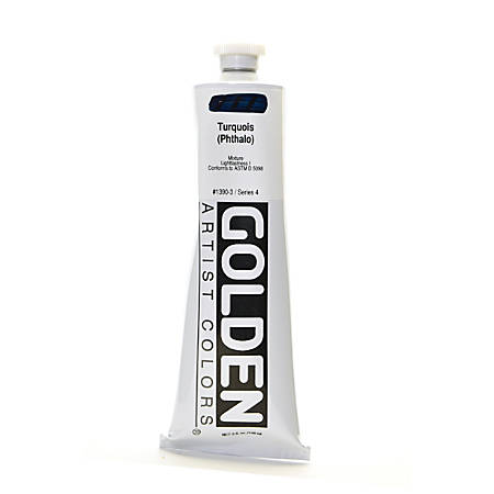 Golden Heavy Body Acrylic Paint, 5 Oz, Turquoise (Phthalo)