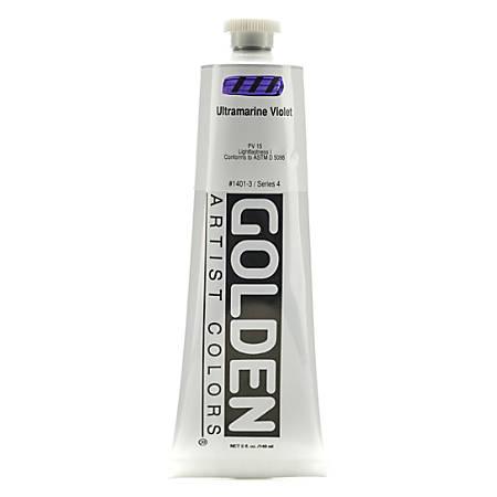 Golden Heavy Body Acrylic Paint, 5 Oz, Ultramarine Violet