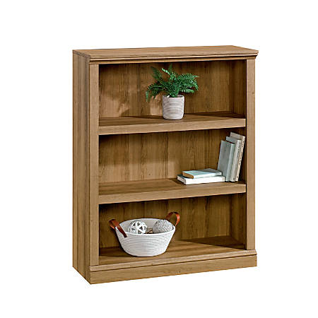 "Realspace® Premium 44""H 3-Shelf Bookcase, Golden Oak"