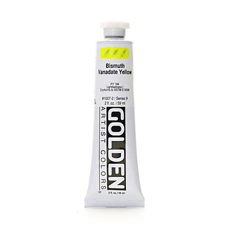 Golden Heavy Body Acrylic Paint, 2 Oz, Bismuth Vanadate Yellow