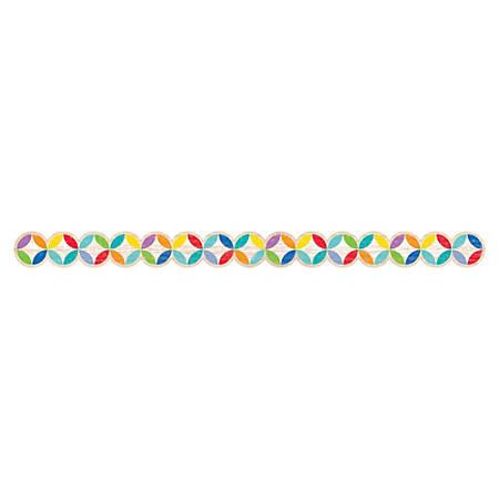 "Creative Teaching Press Rustic Medallions Border - (Border) Shape - Medallions - 2"" Width x 420"" Length - Multicolor - 1 Each"