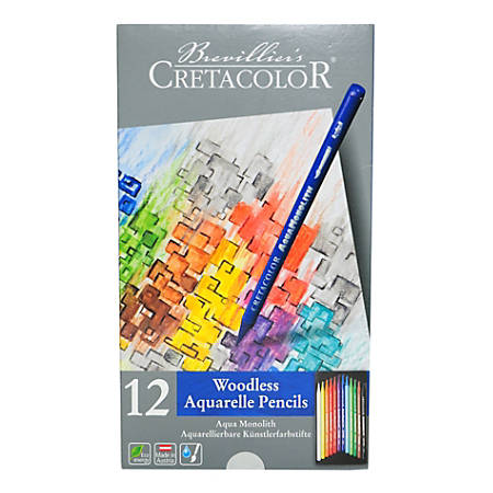 Cretacolor Aqua Monolith Pencils, Set Of 12 Pencils