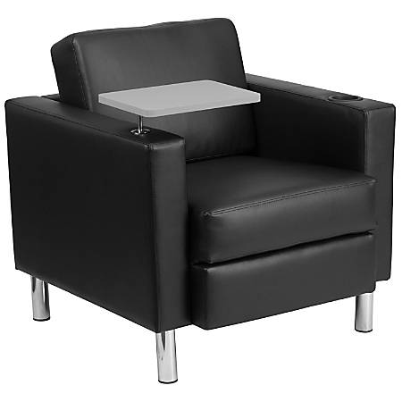 Flash Furniture LeatherSoft Tablet-Arm Guest Chair, Black