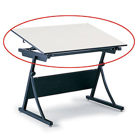 """Safco® Planmaster Drafting Table Top, 3/4""""H x 60""""W x 37 1/2""""D, White"""