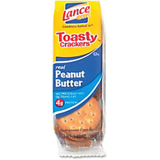 Lance Toasty Peanut Butter Cracker Sandwiches