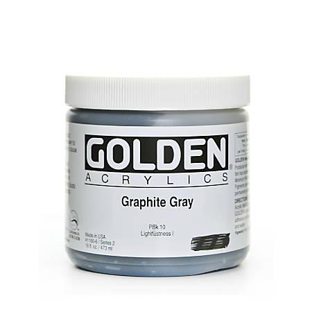 Golden Heavy Body Acrylic Paint, 16 Oz, Graphite Gray