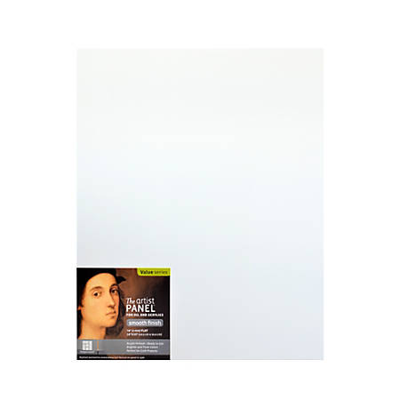 """Ampersand Primed Smooth Flat Profile Artist Panels, 16"""" x 20"""", 1/8"""", White, Pack Of 2"""