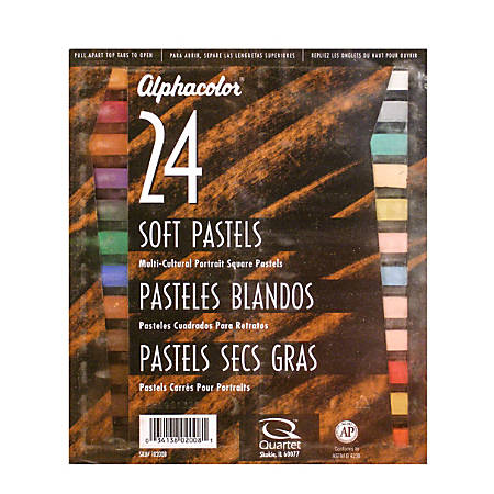 "Alphacolor Soft Pastels, 7/16"" x 2 3/4"", Assorted, Set Of 24"