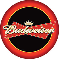 Budweiser pub table round 28 diameter red by office depot officemax budweiser pub table round 28 diameter watchthetrailerfo