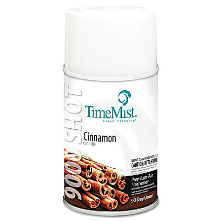 TimeMist® 9000 Shot Metered Air Freshener Refills, Cinnamon Scent, 7.5 Oz, Pack Of 4 Refills